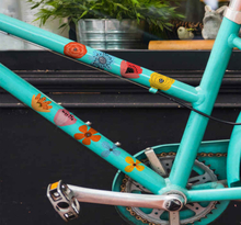 Fiets stickers Kleurrijke bloemen voor fiets