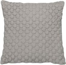 Fondaco Yksivärinen tyynynpäällinen Bubbel Vaaleanharmaa