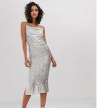 River Island - Silverfärgad kjol med paljetter - Silver