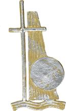 Vaxdekorationer - Gult kors (125x61 mm)