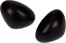 Säkerhetsnäsor i plast svart 2-pack - 24mm