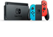 Nintendo Switch mit Neon Blau und Neon Rot Joy‑Con (2019 Version)
