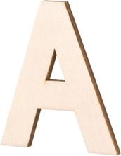 Obehandlade träbokstäver - 80x5 mm