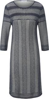 Stickad klänning 3/4-lång ärm från mayfair by Peter Hahn blå