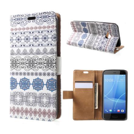 HTC U11 Life Etui laget av kunstlær og silikon - Etnisk mønster