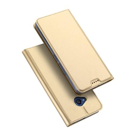 DUX DUCIS HTC U11 Life Etui laget av kunstlær og silikon - Gull