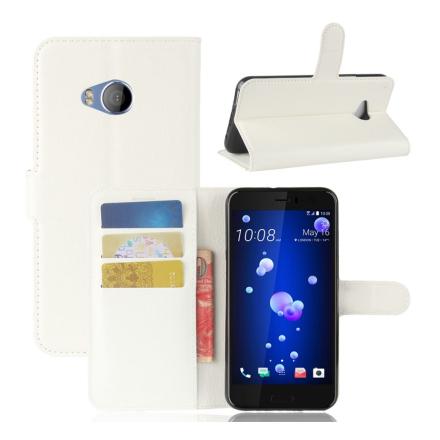 HTC U11 Life Etui laget av kunstlær og silikon - Hvitt
