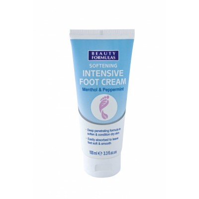 Beauty Formulas Intensive Foot Cream Menthol & Peppermint 100 ml