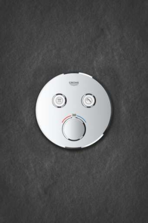 GROHE Grohtherm SmartControl Innebyggetbatteri m/Termostat, 2 uttak, Krom