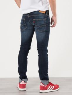 Levis, PANT NOS 520 INDIGO., Blå, Jeans för Gutt, 16 år