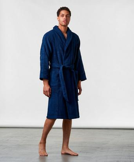 Calvin Klein Terry Logo Robe 8SB Blå