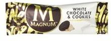 Magnum - White lody z sosem kakaowym o smaku ciasteczkowym ...białą czekoladą