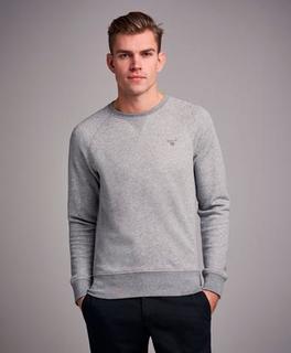 Gant Sweatshirt Gant Original C-Neck Sweat Grå