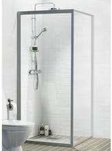 Ifö Solid dusjvegg SV 50x195 cm, Klart Glass / Alu Profil