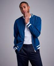 Studio Total Bomberjacka Varsity Jacket Blå