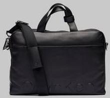 Calvin Klein Statement Zip Slim Laptop Bag Svart