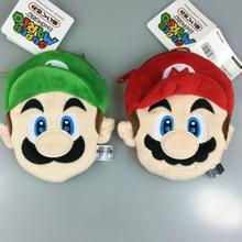 1pc Hot Sale 2 Styles Cartoon Super Mario Bros Coin Purse Unisex Wallet Multi-functional Kawaii Bag Plush Purses Toys Kids Gift