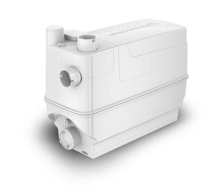 Grundfos Sololift2 C-3 avløpspumpe (velegnet til dusjkabinetter, servanter, vaskemaskiner, oppvaskmaskiner, kjøkkenvask og badekar)