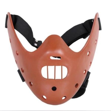 Real Hannibal Lecter maske - Brun