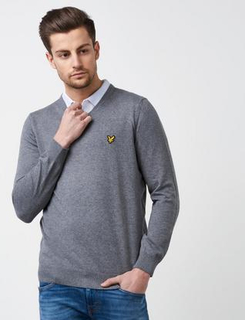 Lyle & Scott V - Neck Merino Grå
