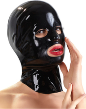 Late-X: Latex Mask Male, svart