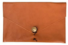 "P.A.P Kungsten Leather Laptop Cover 12"" Brun"