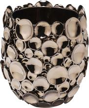 KARE DESIGN Circles vase - kobberfarvet stentøj (H 25)