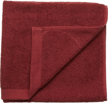 Towel Cotton Linen Home Bathroom Towels Rød Gripsholm