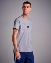 Gant T-Shirt Shield SS T-shirt Grå
