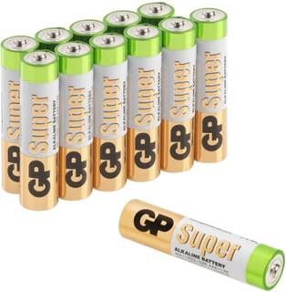 GP Batteries Super Alkaline 24A-S12/LR03 Alkaliske batterier AAA, 12-pakning