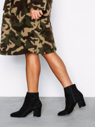 NLY Shoes Mid Heel Ankle Boot Svart