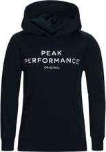 Peak Performance Junior Original Hoodie Barn Tröja Blå 130