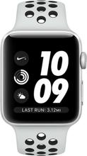 Apple Watch Series 3 Nike+ GPS - 38mm Spacegrau Aluminium Case mit Anthracite/Black Nike Sport mit 3D Curved Premium Tempered Glass Displayschutzfolie (Full Adhesive) - MQKY2