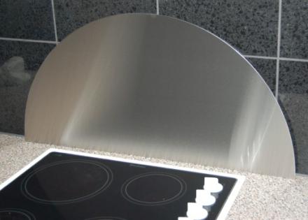 Millarco Veggplate Buet 800x400mm. Børstet rustfritt stål