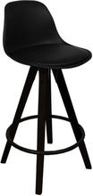 Barhocker mit Lehne Schwarz 65 cm | Küchenhocker - Rob