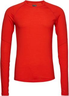 Mens 150 Z Ls Crewe T-shirts Long-sleeved Rød ICEBREAKER