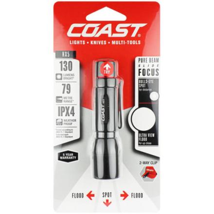 COAST HX5 Lommelykt, 130 lumen