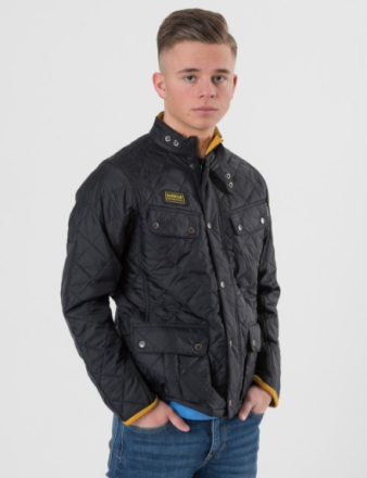 Barbour, Boys Quilted Ariel, Svart, Jakker/Fleece för Gutt, M