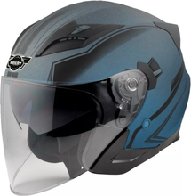 Hjälm för motorcykel - blå &amp svart - XS