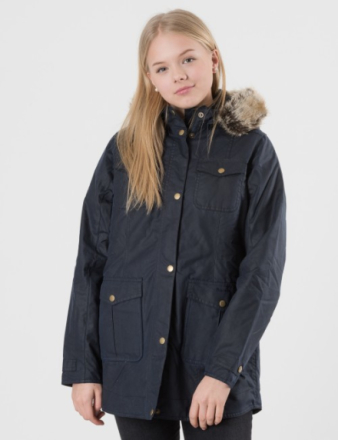 Barbour, BARBOUR ASHBRIDGE WAX JACKET, Blå, Jakker/Fleece för Jente, XXL