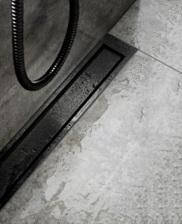 Unidrain HighLine Colour Panel rist, 700 mm, Børstet sort