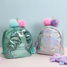 34Styles Children Laser Cartoon Backpacks Glittering Unicorn Schoolbag Teenage Girls Waterproof School Bags Kids Backpacks