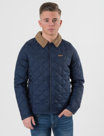 Barbour, BARBOUR HELM JACKET, Blå, Jakker/Fleece för Gutt, XXL