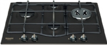 Hotpoint PCN 640T(AN) GH R /HA Hob, Gas, Width 59 cm, 4 cooking zones, Mechanical control, Anthracite