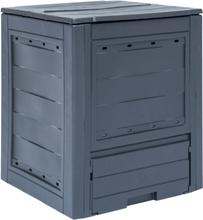 vidaXL kompostbeholder til haven 260 l 60 x 60 x 73 cm grå