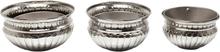 KARE DESIGN Queen potte - nikkelbelagt aluminium (Ø 25) (sæt m. 3)
