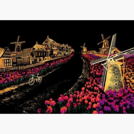 Scratch map night view - Nederland