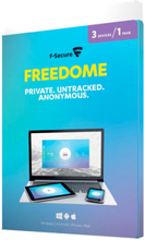 F-Secure Freedome VPN - 3 enheter (Win/Mac/Android/iOS)