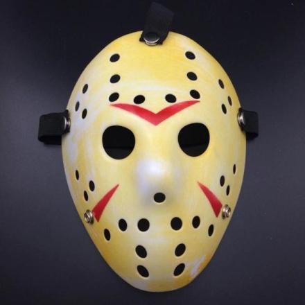 Fredag den 13 hockeymaske - Rød/Gul