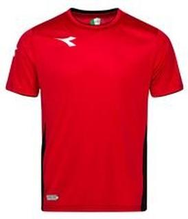 Diadora Trenings T-Skjorte Equipo - Rød/Hvit/Sort